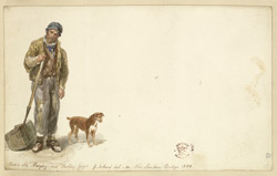 ''Old Murphy'', a workman on London Bridge, 1830